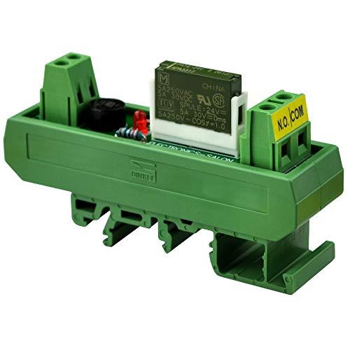 Electronics-Salon AC/DC 24V Slim DIN Rail Mount 5Amp SPST-NO Power Relay Interface Module, PA1a-24V