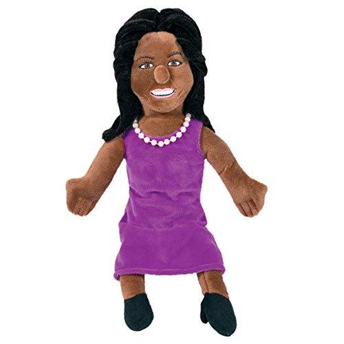 The Unemployed Philosophers Guild Michelle Obama Little Thinker - 11' Plush Doll for Kids and Adults