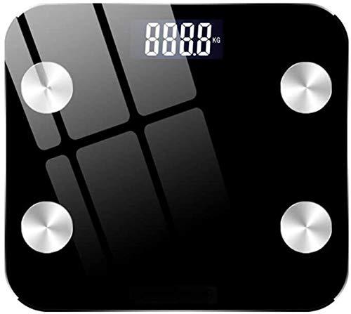 WaWeiY Escalas de Grasa Corporal mediciones de Alta precisión Bluetooth Escala Escala de la Salud del Cuerpo balanzas electrónicas composición Corporal for Fitness (Negro)