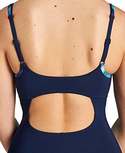 ARENA W Solid Swim Pro - Bañador para Mujer, Color Navy/Black Multi, Talla 48