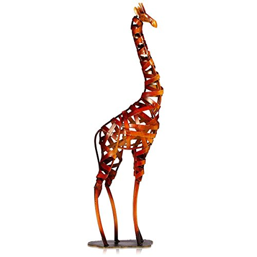 Tooarts Metal Giraffe Sculpture Figurine Animal Gifts Ornament Crafts Home Interior Decorations Office Decorations