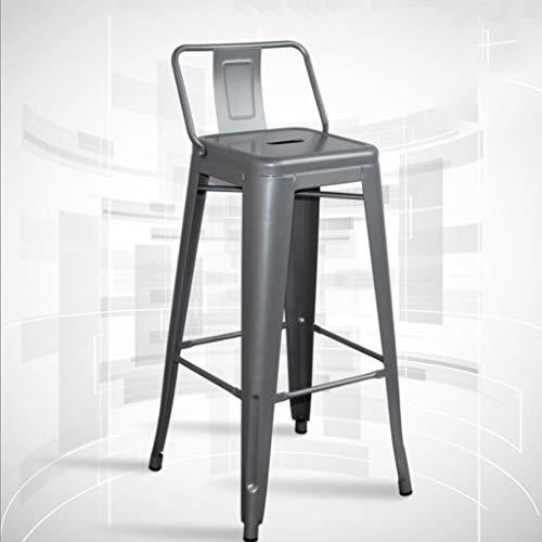 Glpopm Moderne lichtgewicht industriële metalen kuip aan de achterkant barkruk, zithoogte-tegenkruk, barkruk, barkruk in de openlucht, barkruk, tegenkruk, hoge kruk