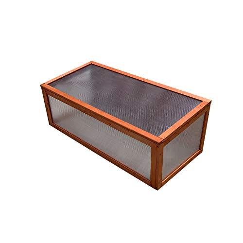 Gardiun KNH1202 - Invernadero de madera y policarbonato Wooden I 95x51x8,5 cm