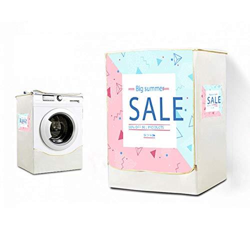 Abdeckung Waschmaschine,Nordic Wind Waschmaschine Trockner Trockner Abdeckung Wasserdicht SonnenbestäNdig Haltbar Universal Staubschutz,Waschmaschine Abdeckplatte