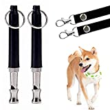 Petyoung 2 PCS Dog Whistle to Stop Barking, Adjustable Pitch Ultrasonic Training Tool