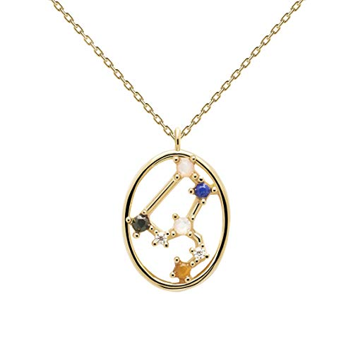 P D Paola Women's Necklace Star Sign Leo Gold Plated Silver CO01-348-U