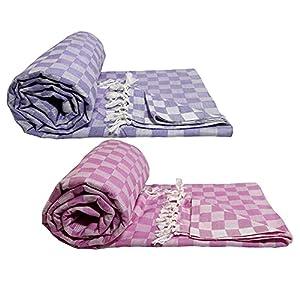 Riyashree Organic Cotton Silky Soft 3D Bhagalpuri Dull chadar Designer Blanket & Duvet ( 52*94 in ) Combo ( Pack of 2…