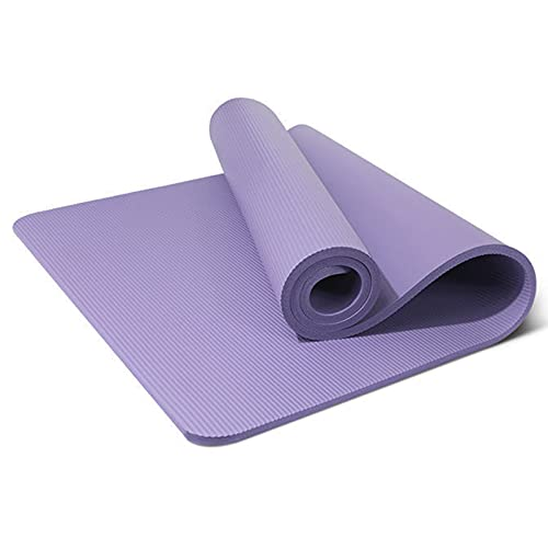 GPITE Colchoneta De Yoga para Principiantes En Casa para Agrandar, Ensanchar, Engrosar, Alfombrilla Antideslizante para Hombres Y Mujeres, Colchoneta Plegable De Fitness Profesional,Púrpura,15cm