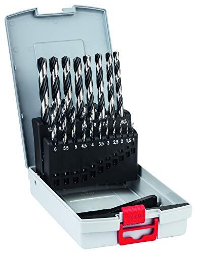 Bosch Professional 2608577351 19-Piece PointTeQ HSS Twist Bit Set (for Metal, ProBox, Drill Driver Accessories), 1,0–10,0 mm