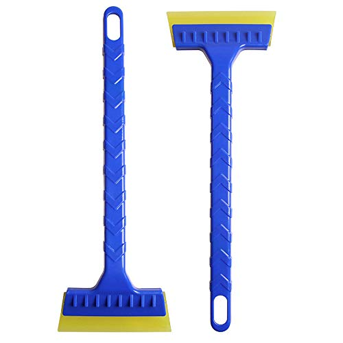Great Features Of Atezch 2PCs Snow Ice Scraper for Car and Snow Shovel Tool with Blade Indestructibl...
