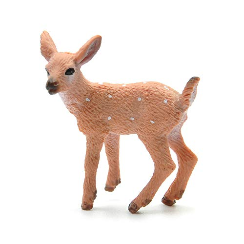 TreeLeaff Forest Animal Figures Toys Christmas Reindeer Realistic White Tailed Deer Action Model Plastic Animal Learning Party Favors Educational Forest Farm Toys for Kids Christmas Style1