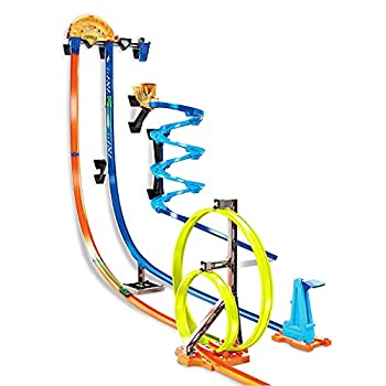 Hot Wheels Track Builder Vertical Launch Set 50 Inches High 3 Stunt Configurations Ages 6 to 10 3M Command Strips [Amazon Exclusive]