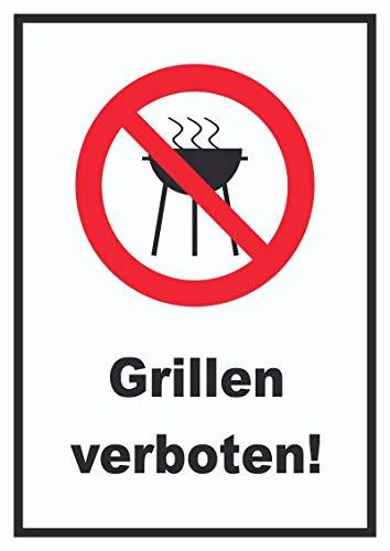 HB-Druck Grillen verboten Schild A4 (210x297mm)