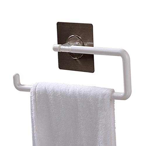 LYMJJ Punch-Bar Gratuito de Toallas, baño de Toallas de un Solo Polo colgado, baño montado en la Pared de Toallas for el Dormitorio, la Cocina