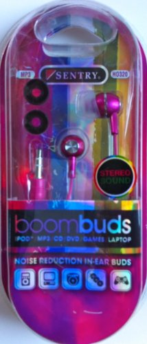 Sentry Boombuds Noise Reduction In-Ear Buds Color Varies - Sentry HO320 by Sentry