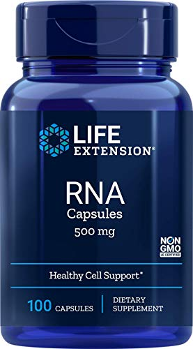 Life Extension RNA Capsules, 500 mg, 100 caps 0737870070108