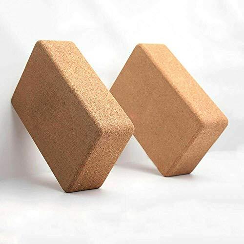 VLFit, Set di 2 Mattoni per Yoga in Sughero ad Alta densità, Prodotti ecologici, 100% Sughero Naturale