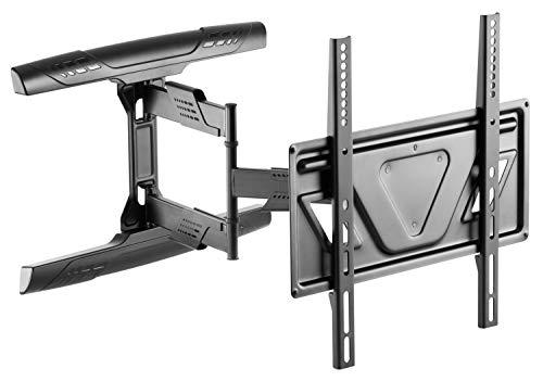 RICOO Fernseher TV Wand-Halterung Schwenkbar Neigbar Ausziehbar (S5944) Universal Fernsehhalterung für 32-55 Zoll (81-140cm) Flach Curved LCD OLED VESA 200x200-400x400