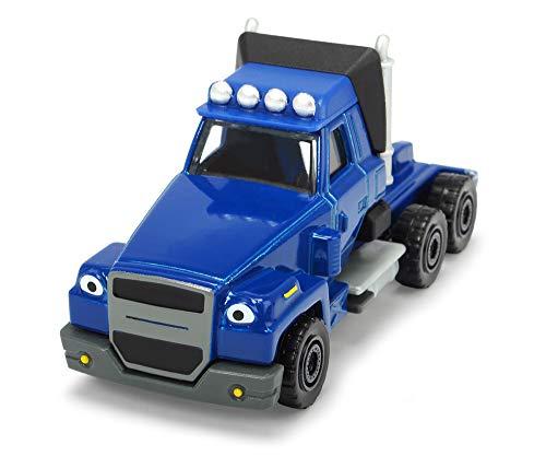Dickie Toys 203131004 Bob Budowniczy Schleppo zabawkowy samochód z wolnym biegiem i ruchomymi częściami, kolor niebieski, 7 cm