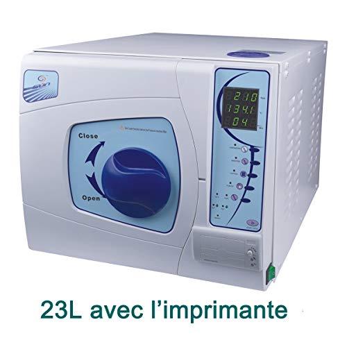 Sun Stérilisateur Autoclave Dentaire Classe B avec l'Imprimante BLEU 220V (23 Litres)