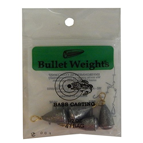 Bullet Weights Bass Casting Sinkers #6-1/2 oz. 4 pc
