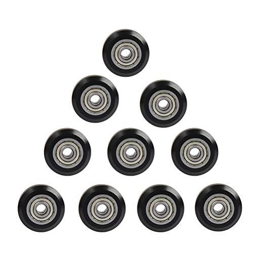 YOTINO Puleggia in plastica 10 pezzi POM, puleggia ruota da 5 mm Modello con scanalatura a V per stampante 3D R-7, CR-8, CR-10, CR10S, puleggia cuscinetto ruota