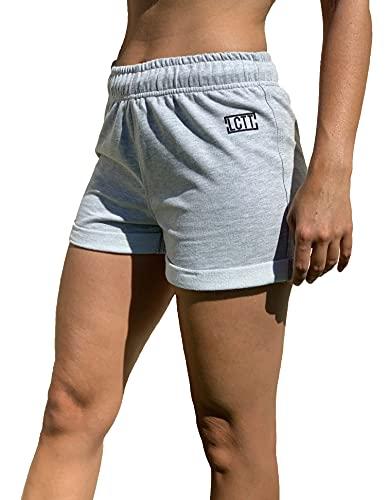 La Cosa Tiene Tela Shorts de Algodón para Mujer, con Goma Elastica de Cintura con Cordon.