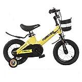 WYBD.Y Bicicleta sólida para niños y niñas para niños de 2 a 13 años 12 14 Bicicleta para niños de 16 Pulgadas con Ruedas de Entrenamiento o Pata de Cabra Bicicleta para niños roja, Rosa, Amarilla