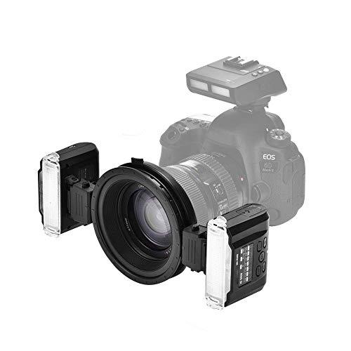 CHHD-Kamera Dual-Head-Makrofotografie-Blitzkit, kabellose Dual-Flash-Speedlite-Trigger-Makrofotografie für die Kamera
