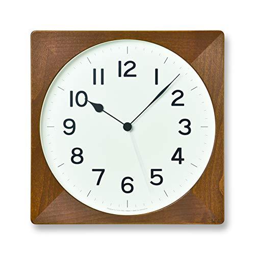 レムノス掛け時計ルートアナログ電波木枠茶NY18-07BWLemnosブラウンw33×wh33×d4.6cm