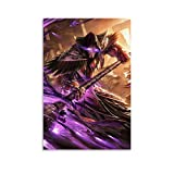 DRAGON VINES Hearthstone - Lienzo decorativo (60 x 90 cm), diseño de mago caído Medivh Atiesh, Greatstaff of The Guardian
