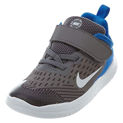 Nike Unisex Baby Kleinstkinder Sneaker Free Run 2018 Hausschuhe, Mehrfarbig (Gunsmoke/White/Signal Blue/Thunder Grey 005), 21 EU