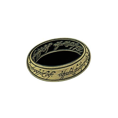 Der Herr der Ringe Der Eine Ring Unisex Pin goldfarben Metall Fan-Merch, Film