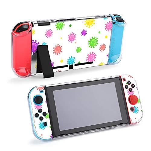 Funda Protectora de Accesorios de microbiología de Dibujos Animados Coloridos para Nintendo Switch, Funda acoplable para Consola Nintendo Switch