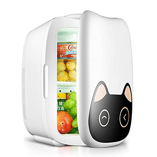 2 in 1 Mini Fridge, 6 Liter Portable Refrigerators with Cooling and Heating Function, 5 °C-65 ° C Small Freezer for Skin Care, Office, Dorm, Car 12V / 220V Freezer Box