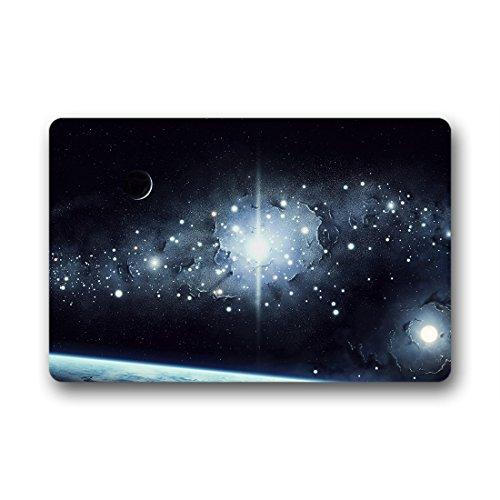 Doubee Multicolores Myst eriöse Galaxy Paillasson Premium Tapis Anti-Poussière Paillasson rectangulaire en Jardin après la Maison 60 cm x 40 cm, Tissu, E, 23.6\