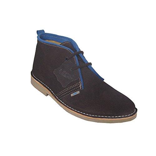 K100R Safari-Stiefel mit italienischer Spitze, mit Bordüre, Schokoladenbraun, verschiedene Farben - Schokolade, Saft - Größe: 39 EU