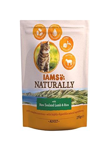 Iams Naturals New Zealand Volwassen kattenvoering voor lam en rijst, 270 g