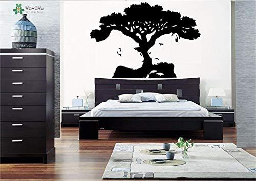 Hetingyue vinyl wandlamp, zelfklevend, tijger, aap, boom, woonkamer, wanddecoratie