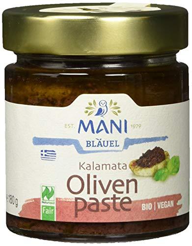 MANI ΜΑΝΙ Kalamata Olivenpaste, bio, 2er Pack (2 x 180 g)