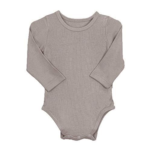 AVAUMA Baby Boys Girls Solid Basic Bodysuits Pants Kids Pajamas Long Sleeve Rayon (Grey Large/12-18Months)