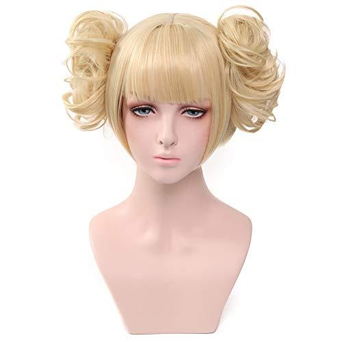 Elibeauty Anime My Hero Academia Wig Golden Cosplay Wigs Long Hair Anime Costume Cosplay Wigs