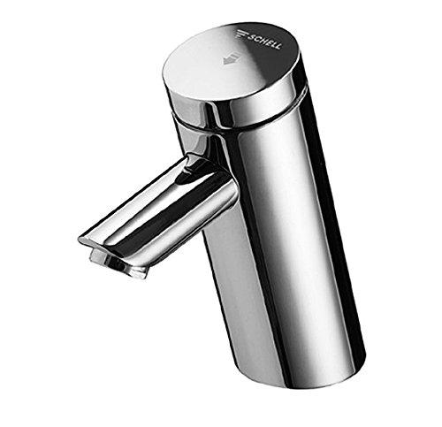 SCHELL 021100699 Selbstschluss-Waschtischarmatur / Waschtisch-Armatur PURIS SC HD-K (Hochdruck Kaltwasser) , Einlocharmatur in Ganzmetallausführung mit Kunststoffkartusche, Laufzeiteintstellung