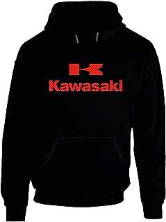 YONGMAO Kawasaki Logo Hoodie weiß Gr. XL, Gold.