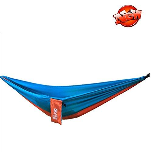 Hamacs en Plein air Portable Pliant Parachute Tissu Lutte Couleur Unique Plage Tapis de Camping Jardin et Patio (Color : Blue Orange, Size : 80 * 245cm)