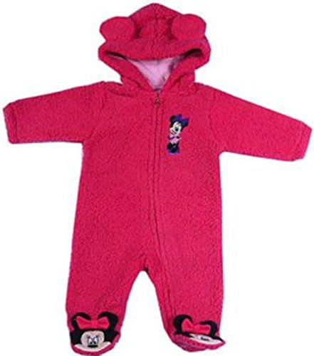 Disney Overall Fleeceanzug Winter Mädchen lila pink Kapuze mit Ohren Minnie,Pooh (62/68, pink)