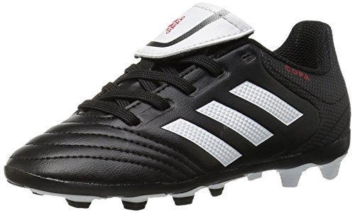 adidas Performance Kids' Copa 17.4 Fxg J Firm Ground Soccer Cleat, Black/White/Black, 5 M US Big Kid