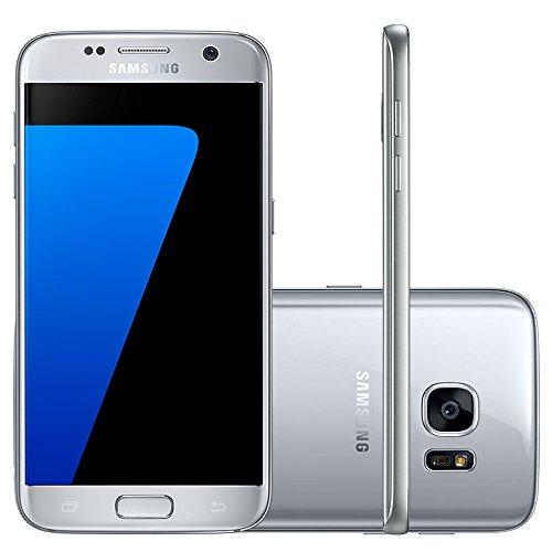 Smartphone Samsung Galaxy S7 Desbloqueado, Acabamento Em Metal E Vidro 3D, Câmera 12Mp Dual Pixel, Processador Octa, Core 2.3Ghz E Proteção Ip68, Prata