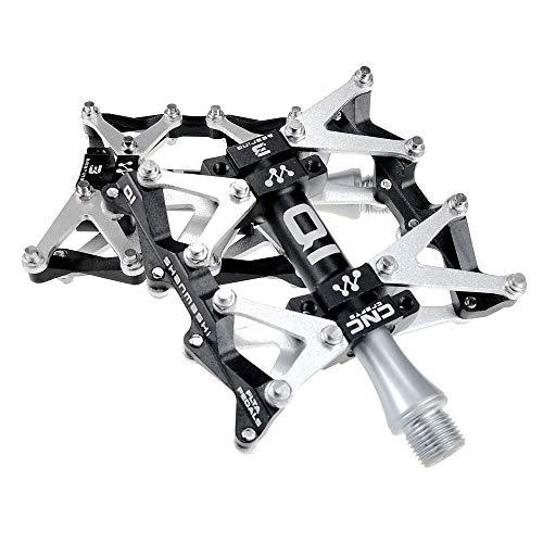 CMOIR Set de Pedal de Bicicletas MTB Pedales 1 par de aleación de Aluminio Antideslizante Durable Superficie Bicicleta Pedales for el Camino MTB 5 Colores (Q1) Pedal de Bicicletas de Plataforma