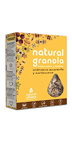 Granola Natural Athlete, Frutos Secos y Semillas BIO, Sin Az